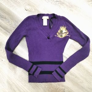 Baby phat knit purple all cotton sweater